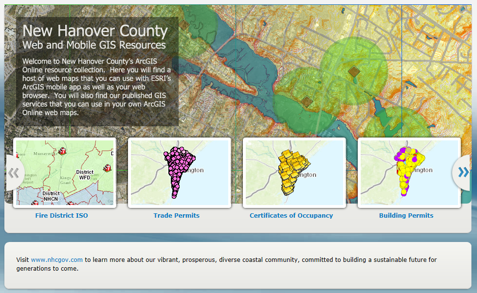 Make Your Own Map New Hanover County